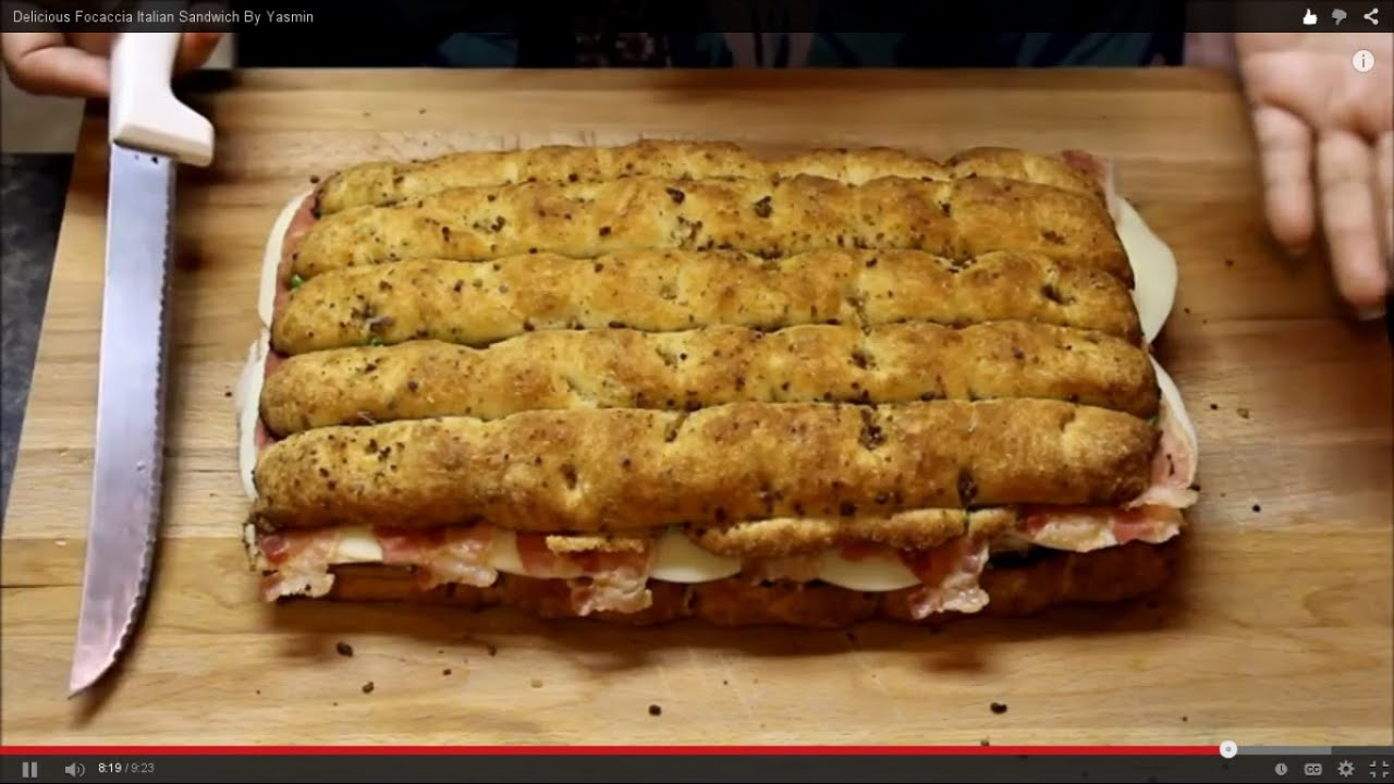 Delicious Focaccia Italian Sandwich By Yasmin Youtube