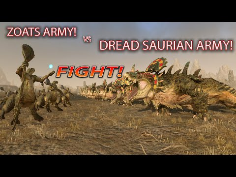 DREAD SAURIAN ARMY VS ZOATS?! | Total War Warhammer 2 the Twisted and the Twilight |