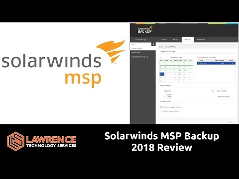Solarwinds MSP Backup 2018 Review - YouTube