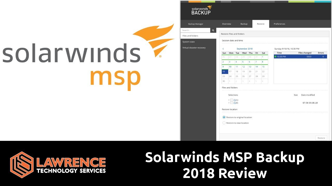 Solarwinds MSP Backup 2018 Review