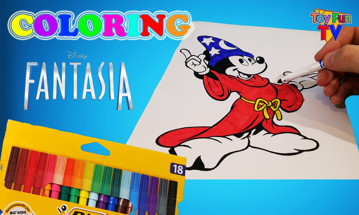 disney fantasia mickey mouse coloring page colouring book