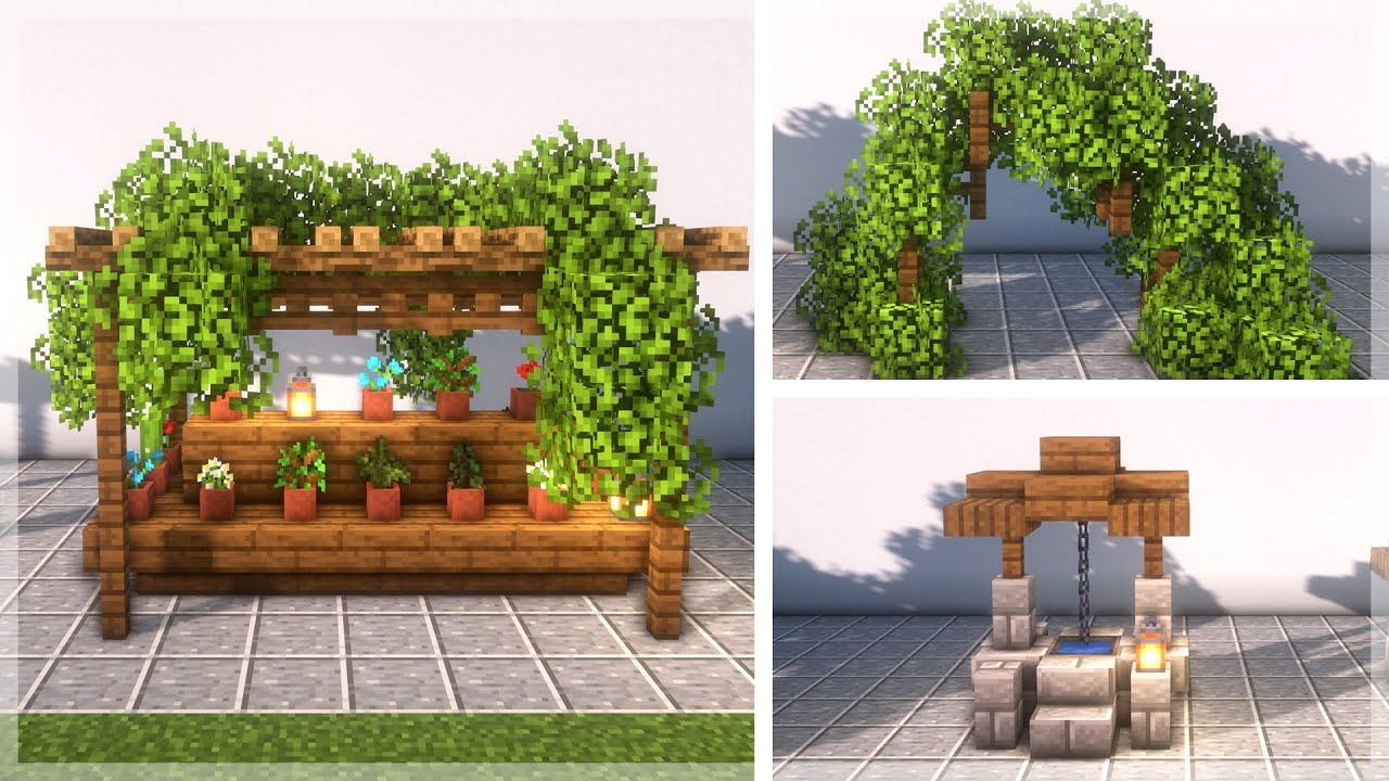 Minecraft 30 Garden Build Ideas And Hacks Youtube