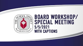 5.5.21 Workshops/Special Meetings (with captions)