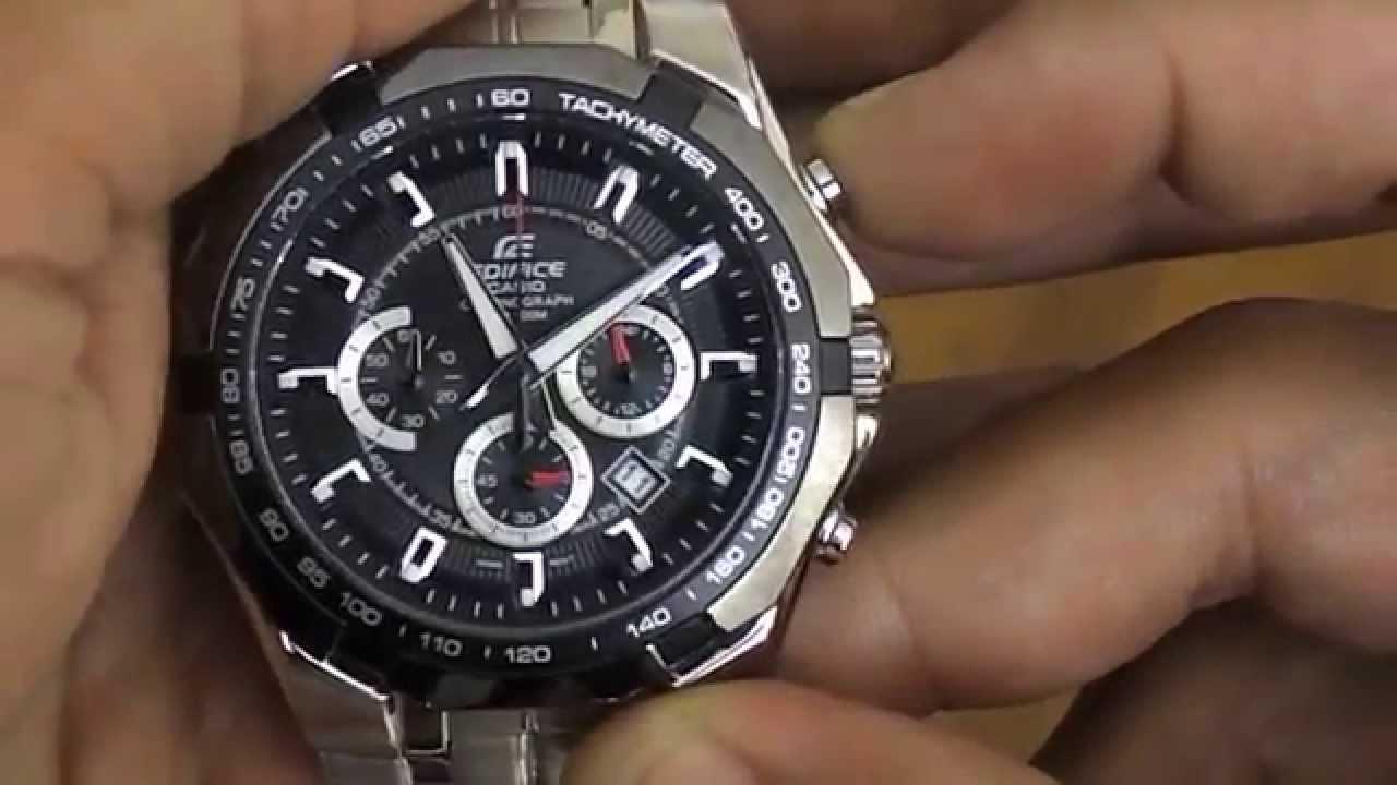 85b42d598b6 Relógio Casio Edifice Cronografo EF-540D-1AV - YouTube