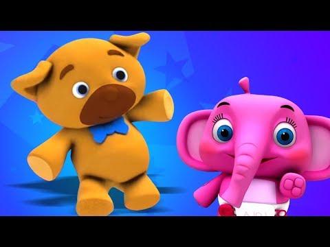 Bamse | dansk børnesang | dansk rim | Teddy Bear Turn Around