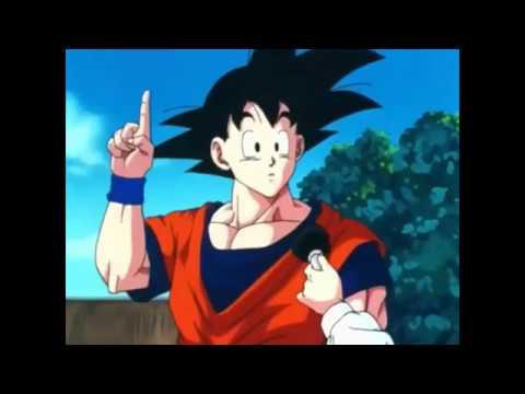 Goku explica su aureola a una reportera