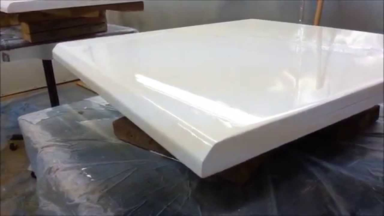 Comptoir epoxy countertop - YouTube