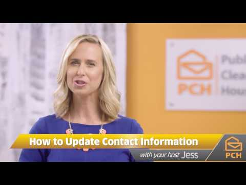 How to Change Your Name or Address on Your PCH Account