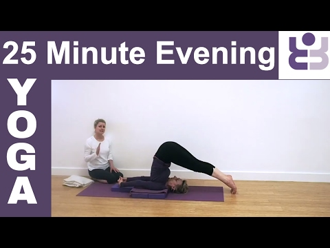 Evening Yoga - A Routine for Bedtime. Prepare for Sleep. Relax; Relieve Tension, Stress,(Subtitles).