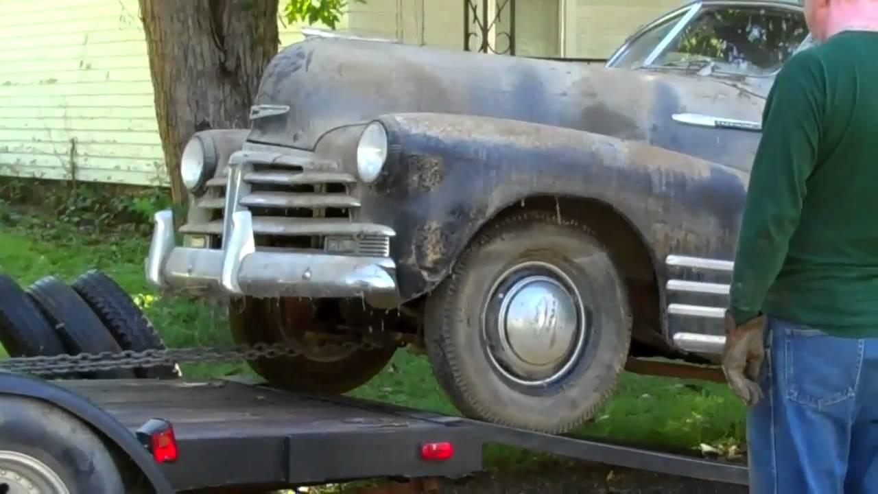 1948 Chevy Fleetline Aerosedan - 54 years in a garage in Han - YouTube