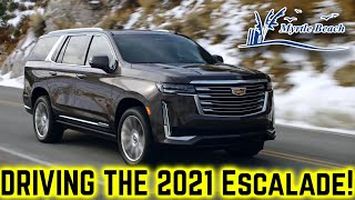 Driving the 2021 Cadillac Escalade! // FULL REVIEW Interior/Exterior & Drive.