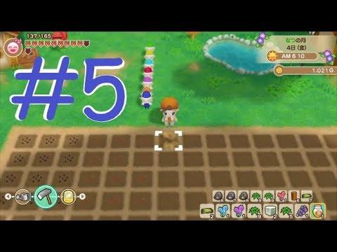 #5 Nintendo Switch『牧場物語 再會のミネラルタウン』初ニワトリ,初牛,初夏! - YouTube