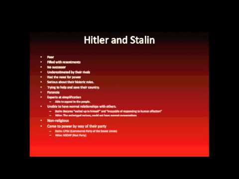 Hitler And Stalin: Parallel Lives Presentation