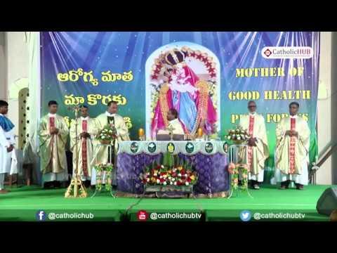 ''Mary-Throne of Wisdom'' Novena mass@ Shrine Of Our Lady Of Health,HYD,INDIA 05-09-17
