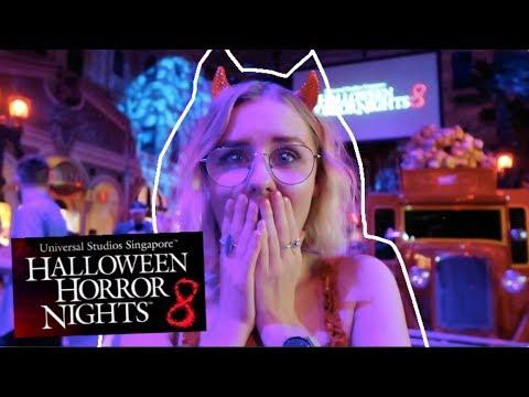 HALLOWEEN HORROR NIGHTS 8 AT UNIVERSAL STUDIOS! 👻 - 동영상