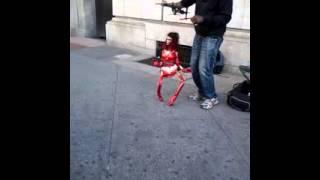 Puppet dancing to reggae- Jamaica ave