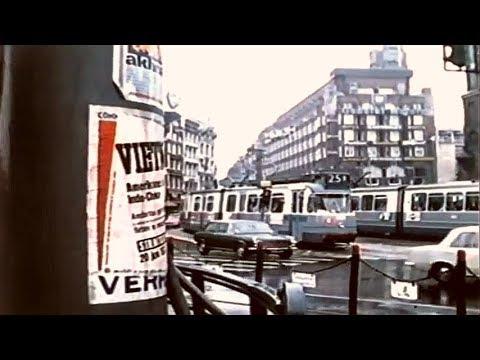 1950 & 1970: Verkeersdrukte op het Muntplein te Amsterdam - oude filmbeelden
