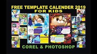 Gambar cover Download kalender 2019 untuk anak, free template calender 2019 for kids