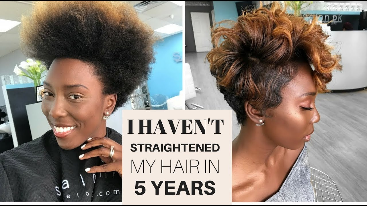 Cut Color and Straighten Natural Short 4C Hair