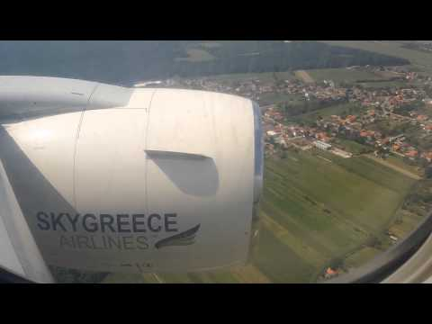 SkyGreece 767-300ER GW 426 Full Approach/Take off LDZA (Zagreb Croatia)
