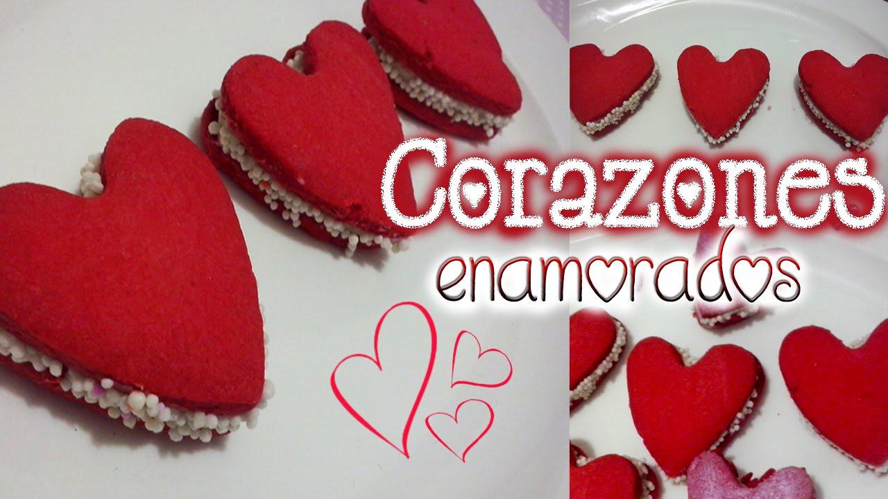 Alfajores de corazon para san valentin regalo original y - Corazones de san valentin ...