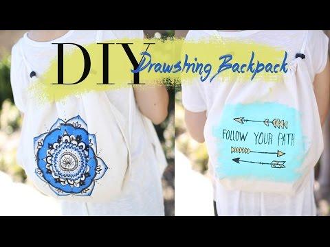 DIY Cute & Easy Drawstring Backpack {NO SEW} | ANN LE