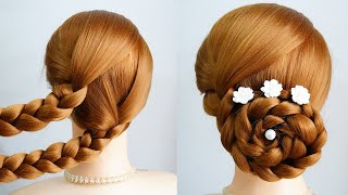 2 Minute Elegant Bun Hairstyle Easy And Simple New Hairstyle Girls Long Hair Hair Style Girl