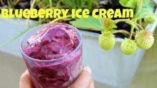 Blueberry ice cream without an ice cream maker