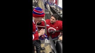 Carey Price gifts signed memorabilia to young fan