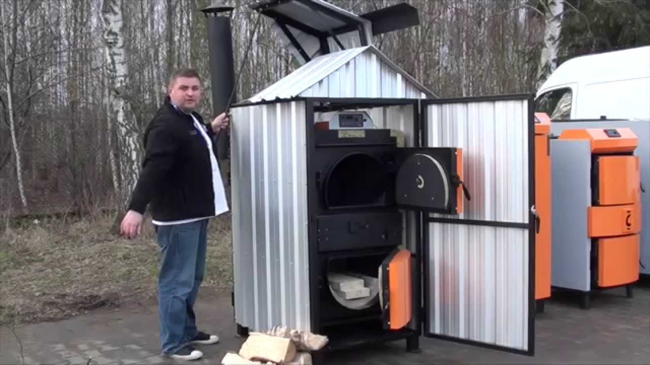 Outdoor Furnaces Cwd Outside Central Heating Wood Straw Gasification Boilers Youtube
