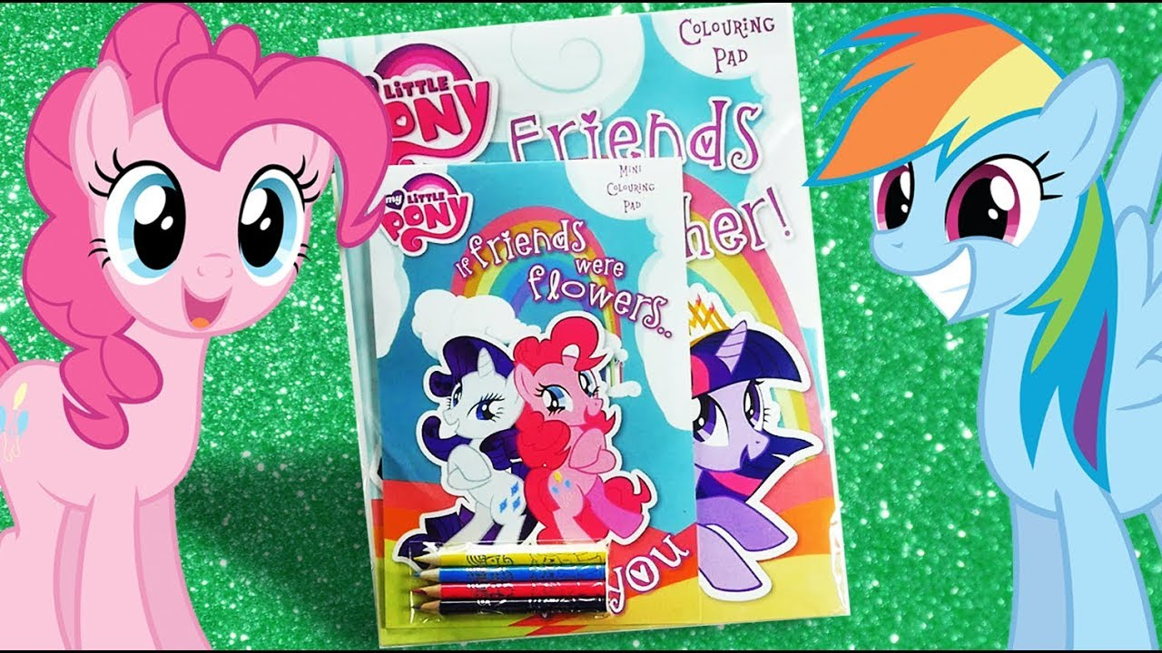 My Little Pony Activity Book MLP Colouring Book For Children