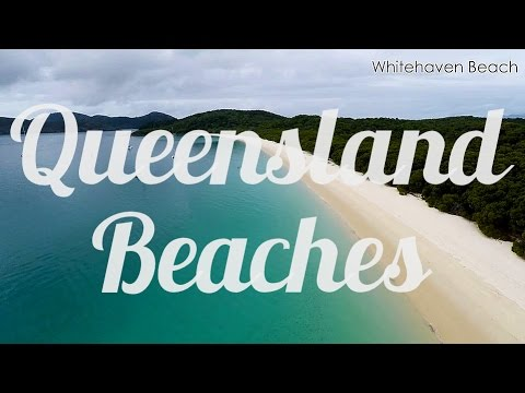 Queensland Beaches, Australia, Aerial Drone Video