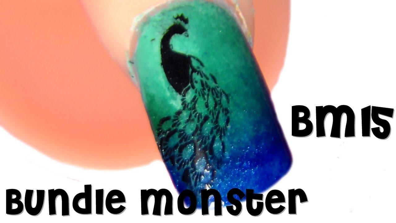 Bundle Monster Bm15 Manicura Pavo Real Petición Lourdes Del Canal