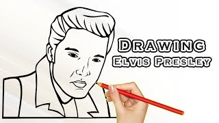 drawing elvis presley drawing famous people draw easy for kids