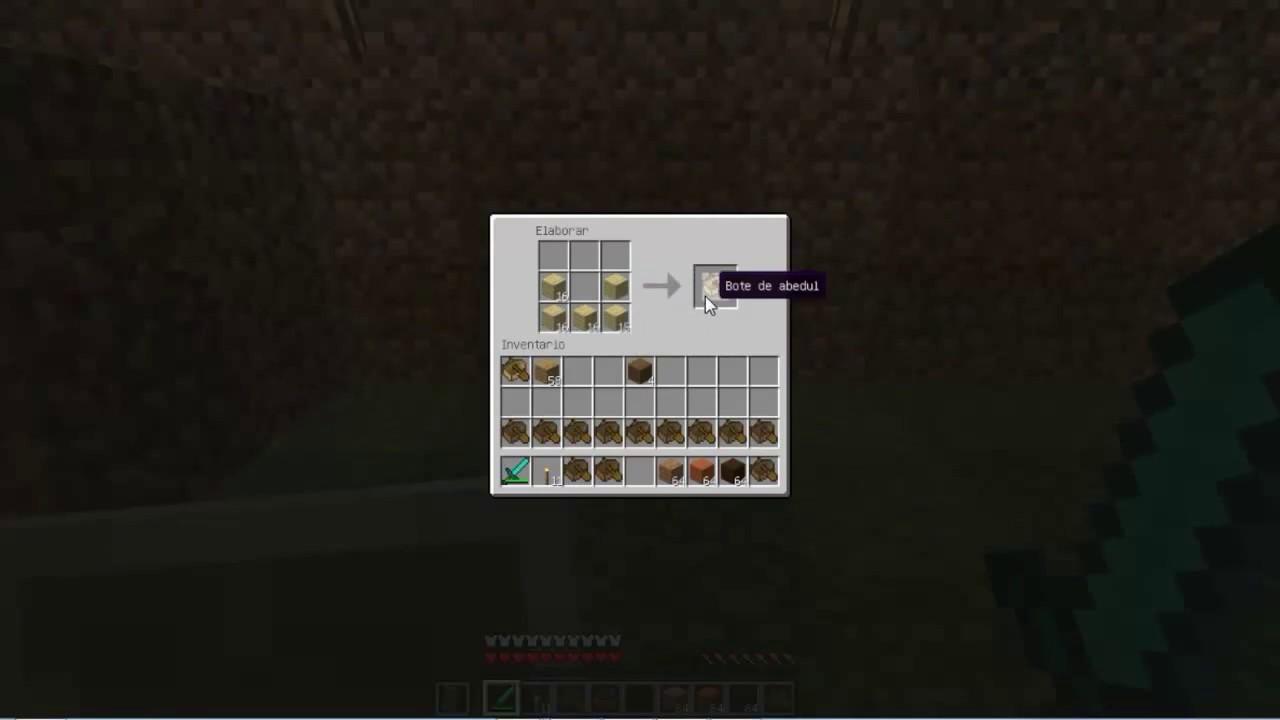 Como hacer un bote en minecraft versi n 1 9 youtube for Como cocinar alubias de bote