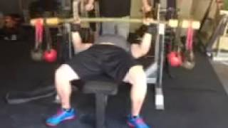 Mark Bell using the Bamboo Bar