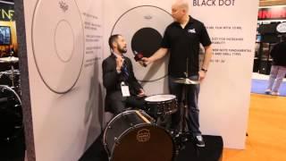 Guitar Center New from NAMM 2015 - Remo Powerstroke 77 & Powerstroke 3 Black Dot Drum Heads