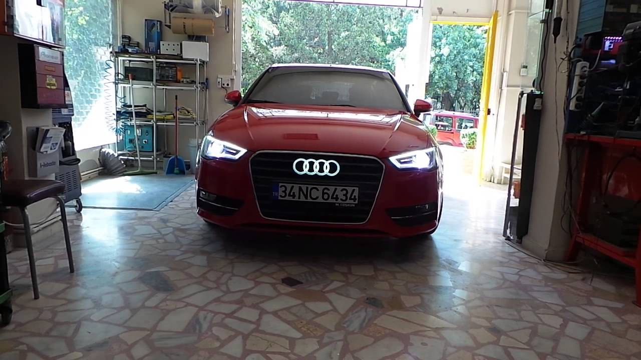 audi a3 led logo uygulama youtube. Black Bedroom Furniture Sets. Home Design Ideas