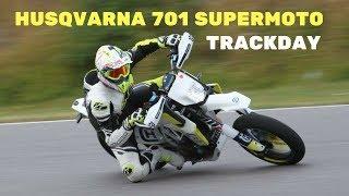 1 lap on the track| Husqvarna 701 Supermoto on Sviestad