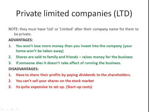 Whats the difference between a Public Limited Company and a Private Limited Company?  - AARevision