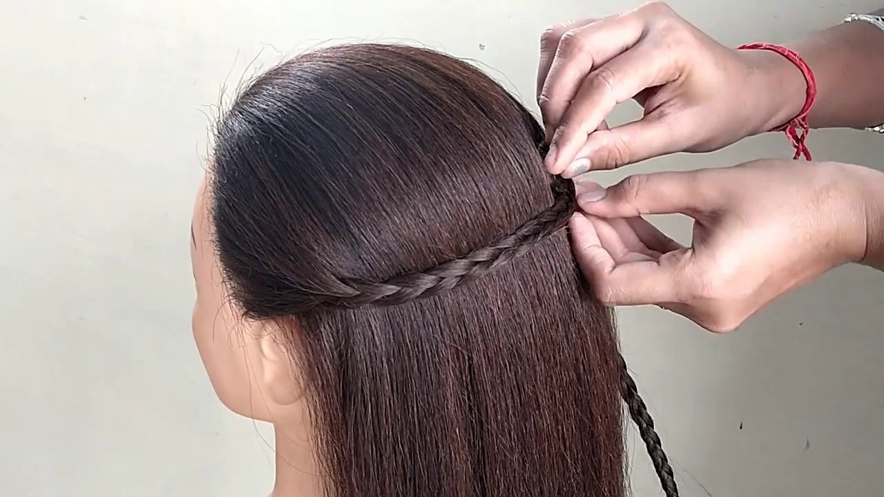 Simple Hairstyles For Girls || Open Hair Easy Hairstyles || Girls Hairstyle - YouTube