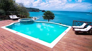 Saint Lucia Property For Sale With Private Beach, Pool, Panoramic Sea Views