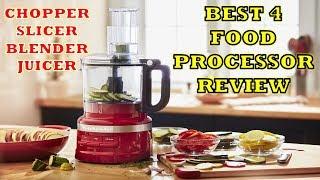 Best 4 Kitchen Food Processors - Review [Hindi] 2018    Blender Chopper Slicer Juicer Processor