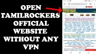 How to open Tamilrockers original website without VPN || MR Mind Global