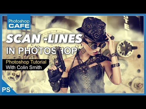HOW TO MAKE TV SCAN LINE EFFECT IN PHOTOSHOP TUTORIAL