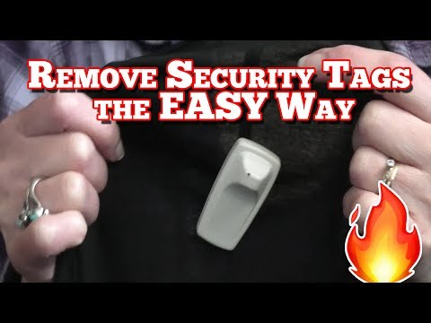 Remove Security Tags from Clothing - the Easy Way