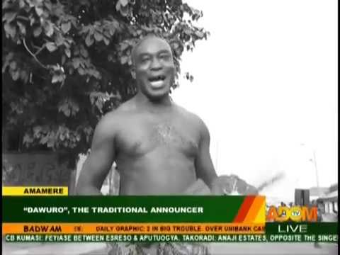 """""""Dawuro"""", The Traditional Announcer - Badwam Amamere on Adom TV (23-1-19)"""