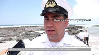 ENCONTRARON CADÁVER DE HOMBRE FLOTANDO EN PLAYA BELLAVISTA EN IQUIQUE