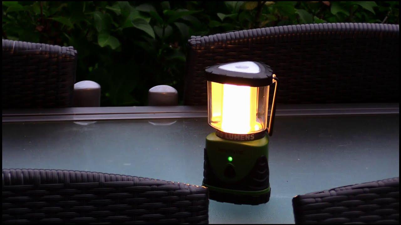 Camping Laterne - Garten Laterne - Zeltleuchte - warmweiss 300 Lumen ...