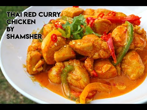 Thai Red Curry Chicken Recipe | How To Make Thai Red Curry Chicken